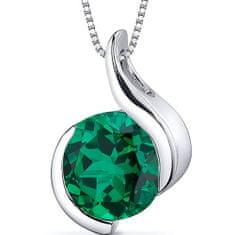 Eppi Smaragd ve stříbrném náhrdelníku Tejomay P31087