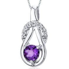 Eppi Jemný ametystový náhrdelník zo striebra Amelina P32669