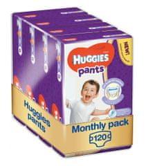 Huggies pieluchomajtki Pants Jumbo 6 (15-25 kg) 120 szt. - opakowanie miesięczne (4x30 szt.)