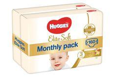 Huggies Elite Soft 3 (5-9 kg) 160 db (2x80 db) - Havi csomag