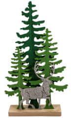 Toro Dekorace vánoční - sob se stromkem, plstěný