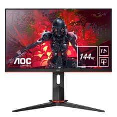 "AOC 24G2U/BK monitor, 23,8"", zvočniki, IPS, Full HD, 144hz, 1ms, gaming"