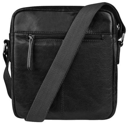 JustBag Pánska kožená taška 2206 Black