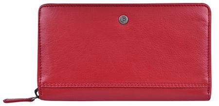JustBag Dámska kožená peňaženka 5212 Fire Red