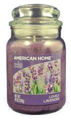 Yankee Candle Americký domov 538 g Polibek levandule