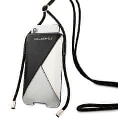 Karl Lagerfeld Book Pouzdro pro iPhone 11/11 Pro, Black Grey (EU Blister) (KLHCLWPSLBK)
