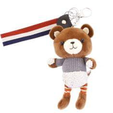 Delami Přívěsek na kabelku, batoh či klíče, medvídek Jennie šedá