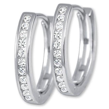 Brilio Silver Něžné stříbrné náušnice 436 158 00079 04 stříbro 925/1000