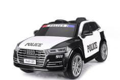 Beneo Elektromos autó gyerekeknek Audi Q5 Rendőr autó, 2,4 GHz DO, 2 X 40W MOTOR, egyszemélyes, fekete