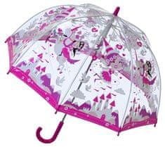 Blooming Brollies Dětský průhledný holový deštník Buggz Unicorn Pvc Umbrella
