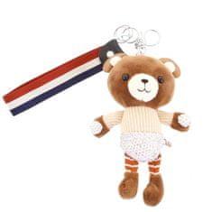 Delami Přívěsek na kabelku, batoh či klíče, medvídek Jennie béžová