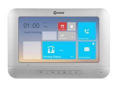 """Mazi PM07-800L, barevný 7"""" handsfree videotelefon, 3 vstupy, vnitřní paměť 256MB, alarm I/O, RS-485, MAZi"""
