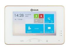 "Mazi PM07-1024, dotykový 7"" handsfree IP videotelefon, vnitřní paměť + MicroSD, alarm I/O, RS-485, MAZi"