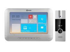 """Mazi PKIT-1A, sada barevného 7"""" handsfree videotelefonu a dveřní stanice, 3 video vstupy, alarm I/O, MAZi"""