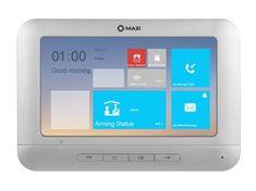 """Mazi PM07-800, barevný 7"""" handsfree IP videotelefon, vnitřní paměť 256MB, alarm I/O, RS-485, MAZi"""