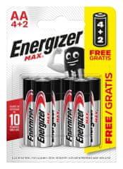 Energizer E301534200 Max AA 4 + 2