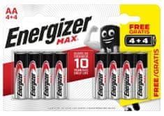 Energizer E301594800 Max AA / 8 4 + 4
