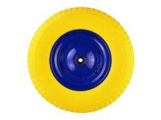 GEKO Gumové kolo do vozíku žluté, 400x85mm