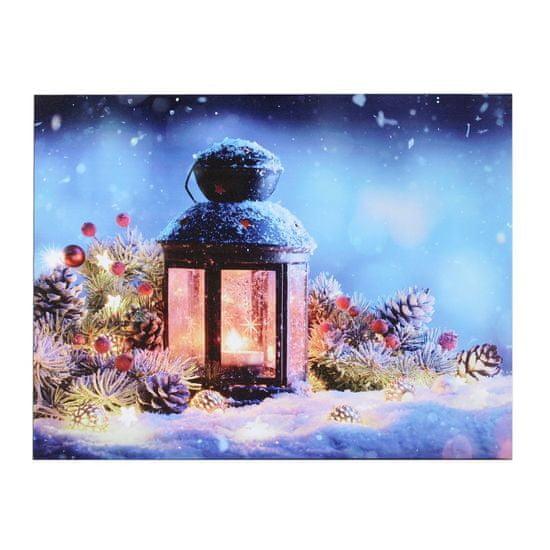 Toro Obraz dekorační svítící 1 LED 30x40 cm tisk plátno