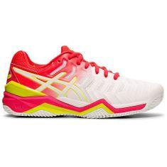 Asics Dámská tenisová obuv Gel Resolution 7 Clay 2019   bílá/růžová