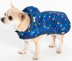 Samohýl Obleček - Pláštěnka Mia modrá s tlapkami 24 cm