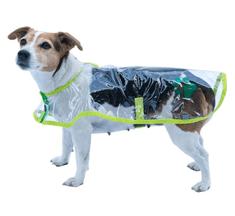 Samohýl Obleček - Pláštěnka Bella průhledná reflex neon zelená 20 cm