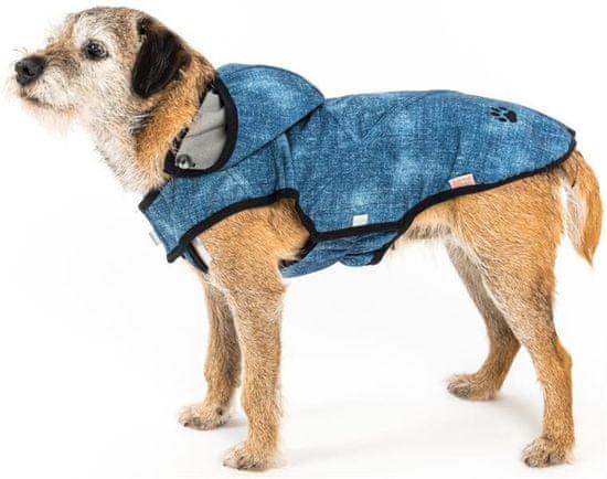 Samohýl Obleček - Vesta softshell Džína s potiskem rifloviny modrá 55 cm