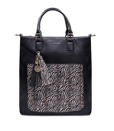 L'Atelier du Sac 9137 Valerie ženska torbica, črna s pashminou