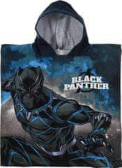 Sun City Pončo Avengers Black Panther s kapucí 50x100 cm
