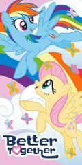 EUROSWAN Osuška My little pony / ručník My Little Pony Together 70x140 bavlna