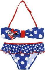 Sun City Dívčí plavky bikiny Minnie Mouse puntíky modré Velikost: 98 (3 roky)