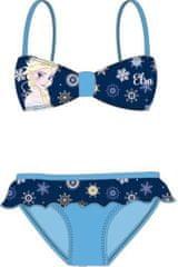 KFT Dívčí plavky bikiny Frozen tyrkysové Velikost: 104 (4 roky)