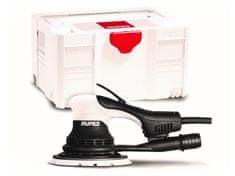 Rupes Skorpio E - elektrická, bezuhlíková orbitální bruska, výkmit 3 mm, průměr 150 mm, v plastovém, stohovatelném boxu