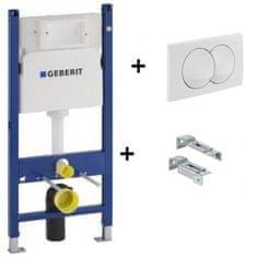 Geberit Duofix Basic WC element za suhom montažom s gumbom za aktiviranje i nosačem za pričvršćivanje 111.154.11.1