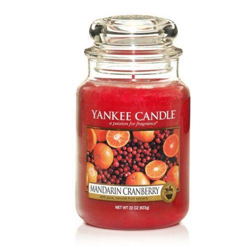 Yankee Candle Aromatická sviečka veľká Mandarínka a brusnica (Mandarin Cranberry) 623 g