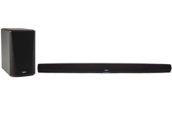 moderný soundbar subwoofer DENON dht-s516H neodymové magnety dynamický zvuk basy dolby digital digital plus dts alac flac wav režimy zvuku