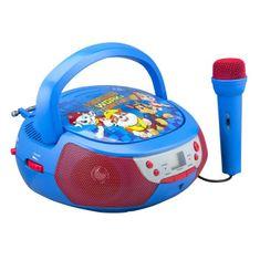 eKids dětský CD přehrávač s mikrofonem - Tlapková patrola