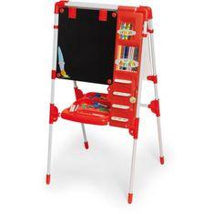 Chicos dětská tabule s příslušenstvím My Magnetic Artist Board - červená