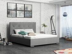 Čalouněná postel DANGELO 1 180x200 cm, šedá látka