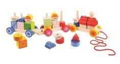 Bigjigs Toys Bigjigs Baby Dřevěný vláček s nasazováním
