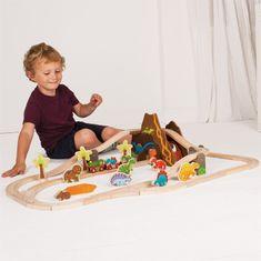 Bigjigs Rail  Dřevěná vláčkodráha dinosauří