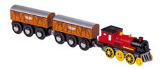 Small foot Small Foot Elekrická lokomotiva k vláčkodráze se dvěma vagónky