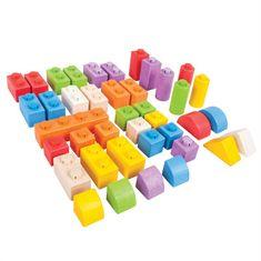 Bigjigs Toys Bigjigs Baby Dřevěné Spojkostky - Střední set