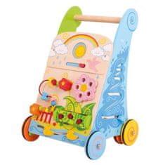 Bigjigs Toys Bigjigs Baby Dřevěné aktivní chodítko zahrada