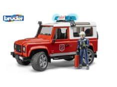 Bruder  Hasičské auto Land Rover s figurkou