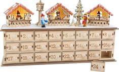 Small foot Small Foot Drevený adventný kalendár vianočné trhy