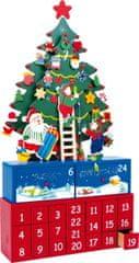 Small foot Small Foot Dřevěný adventní kalendář vánoční stromeček