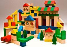 Ekotoys EkoToys Dřevěné kostky barevné 180 ks