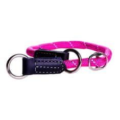 Rogz Obojek stahovací ROGZ Rope HBR 0935 K-Pink (M) 0,9x30-35cm