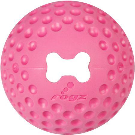 Rogz Hračka Rogz míček Gumz růžový 7,8cm